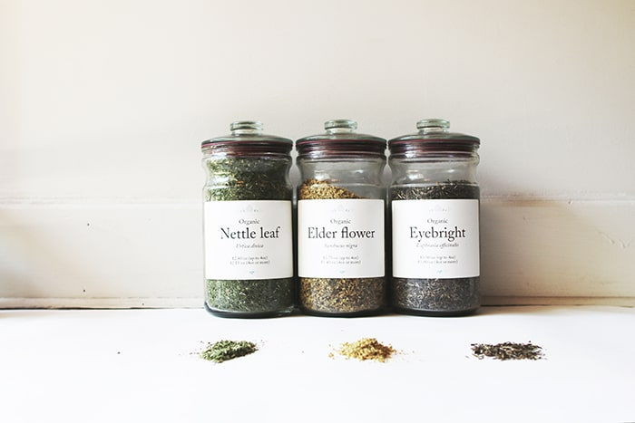 s_nettle elderflower eyebright in jars