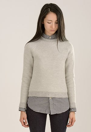 Organic merino wool sweater made in NYC