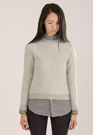 Organic merino wool sweater made in NYC
