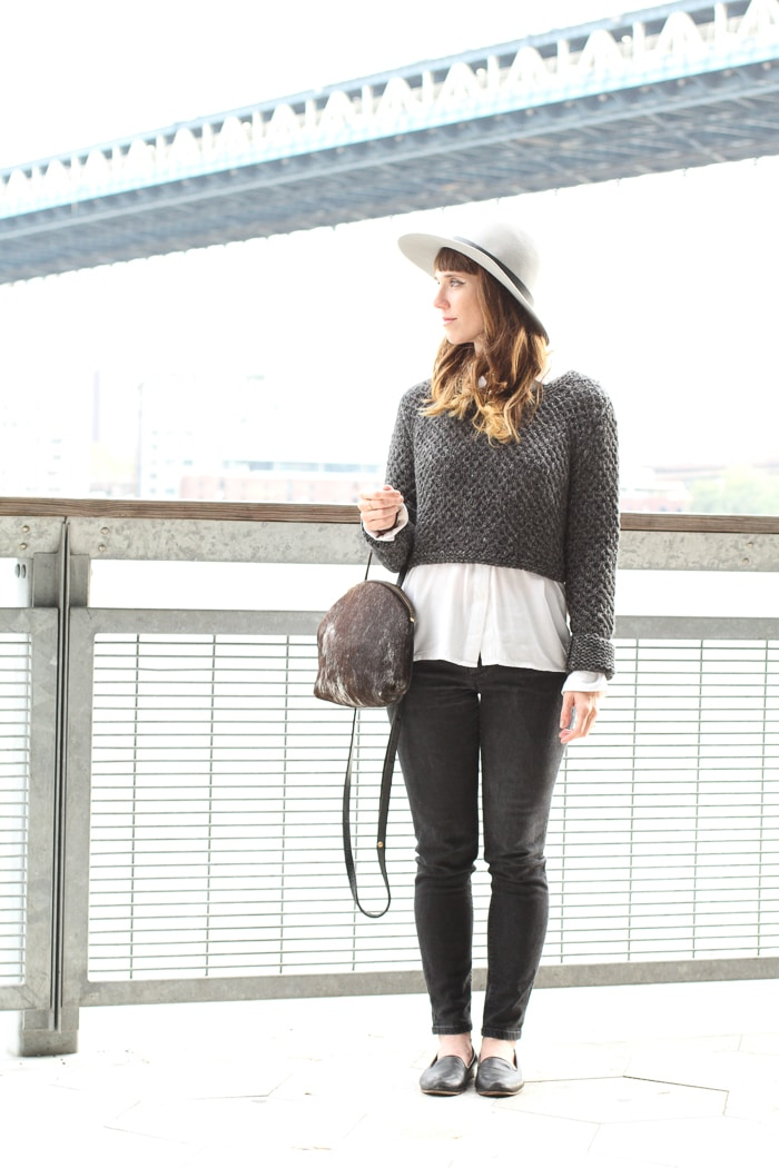 #Sustainable street style: alpaca cropped sweater by Callina