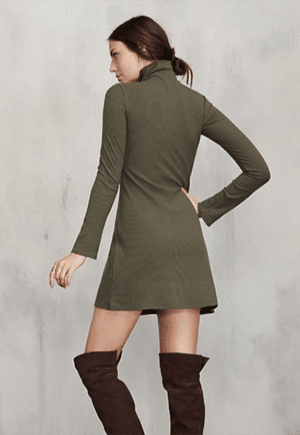 Reformation Tencel turtleneck dress