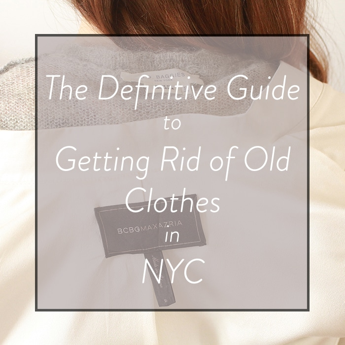 how to donate and consign clothes in NYC