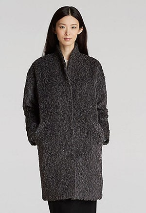 Alpaca coat ethically made in Peru