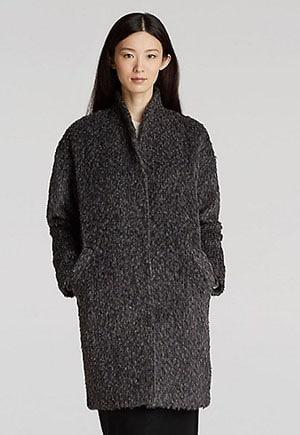 Alpaca coat ethically made in Peru