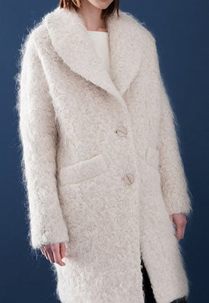 Mohair and wool coat made in the USA