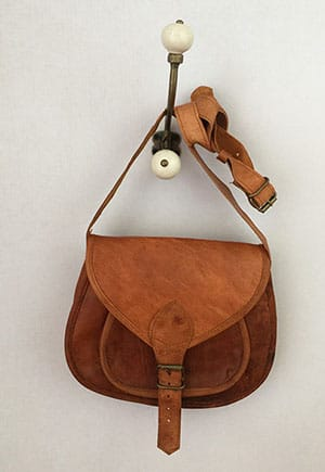 Leather bag fairly made in India