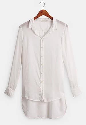 Silk blouse made in the USA