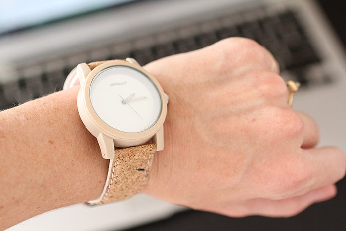Eco-friendly cork watch