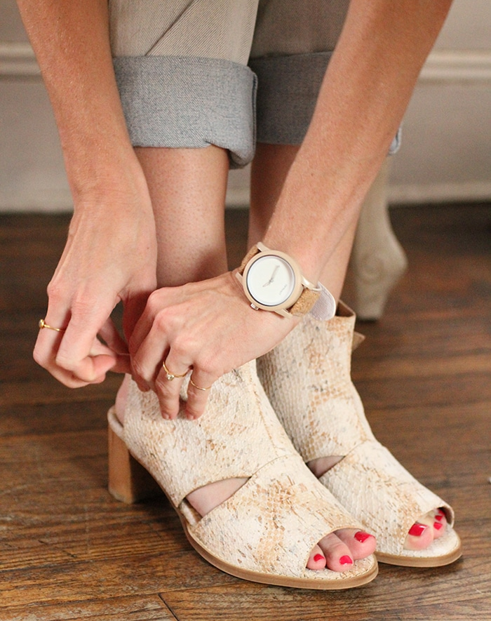 Eco-friendly cork watch