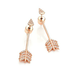 Pamela Love arrow jacket earrings evoke cupid's bow in a fresh way.