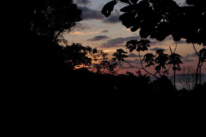Sunset, Drake Bay, Osa Peninsula