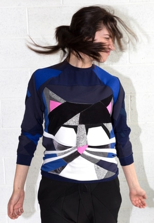 ZWD sweatshirt made with cutting room scraps | Comes in XL
