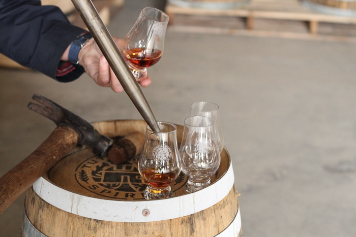 Pulling two-year old bourbon right out of the barrel