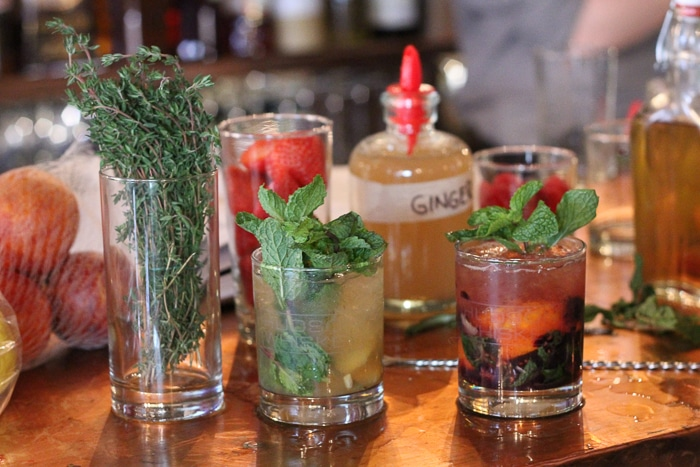 Summer smash drinks made with hudson whiskey and a variety of fruit