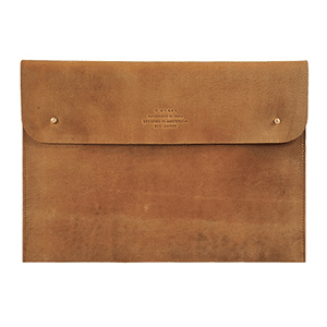 "Eco-leather laptop sleeve fits 13"" Macbook"