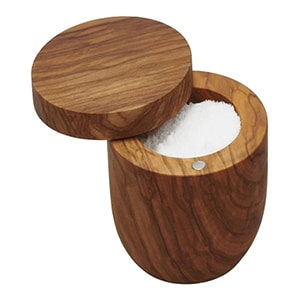 Salt container made in Italy from FSC-certified wood.
