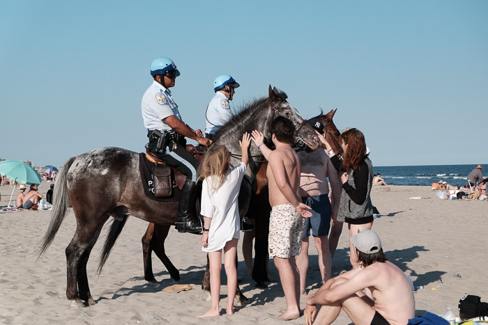 Mounted police beach