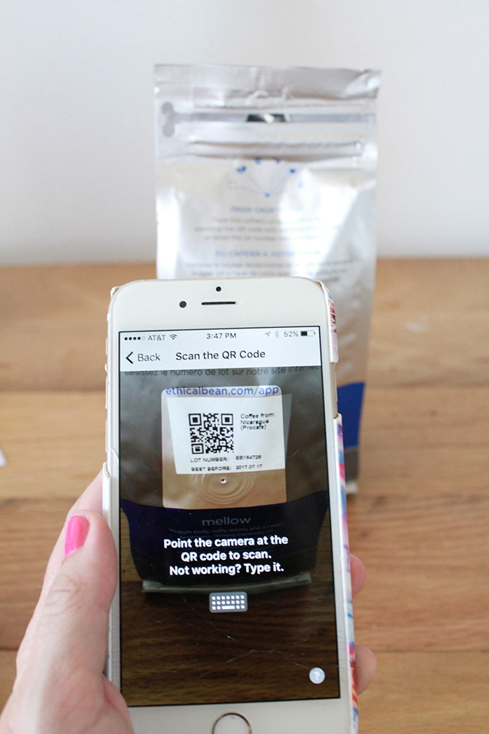 Tracking your coffee with Ethical Bean's app