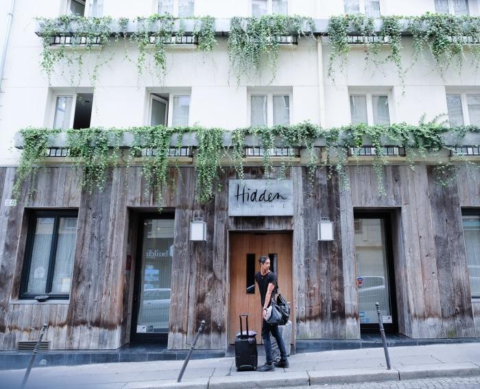 My boo in front of Hidden Hotel