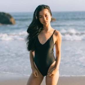7 Eco-Friendly Bathing Suit Brands, on a Non-Model