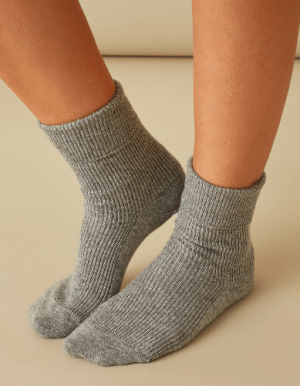 Johnstons of Elgin ethically-sourced cashmere socks made in Scottish heritage factory