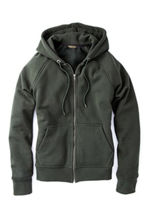 He wears his clothing until it falls apart. Get him this hoodie that is guaranteed not to do so for 10 years.