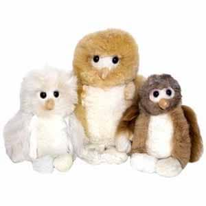 Alpaca stuffed owls so soft you might try to take your gift back.