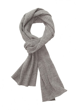 He'll be so cozy knowing this scarf is made from recycling polyester and organic cotton.