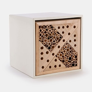 This is for the friendly, solo bees who pollinate your garden. Give them a fashionable home!