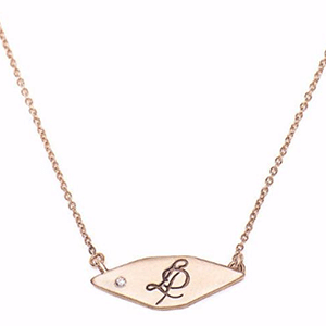 Custom signet necklace made from recycled gold, with or without diamond