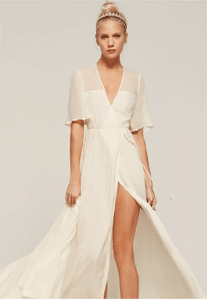 reformation eco-friendly wedding dress
