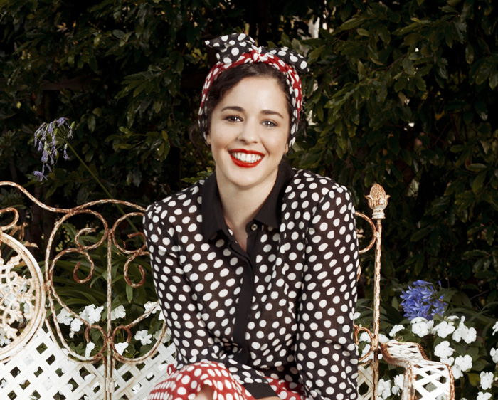 Carrie Parry in her eponymous spring 2012 collection