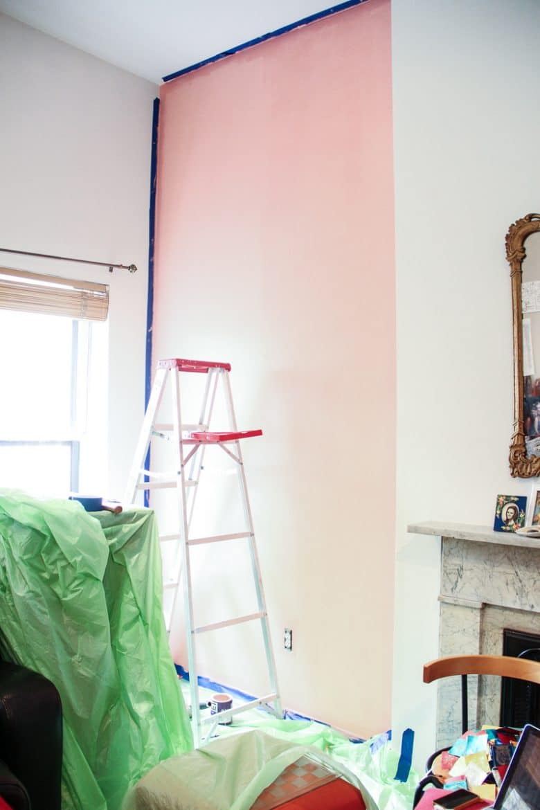 Painting A Pink Accent Wall The Green Way