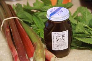 honey rhubarb mint syrup