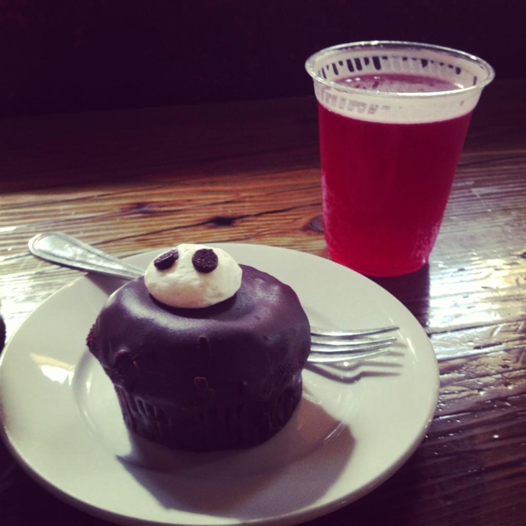 City O' City gluten-free cupcake and kombucha