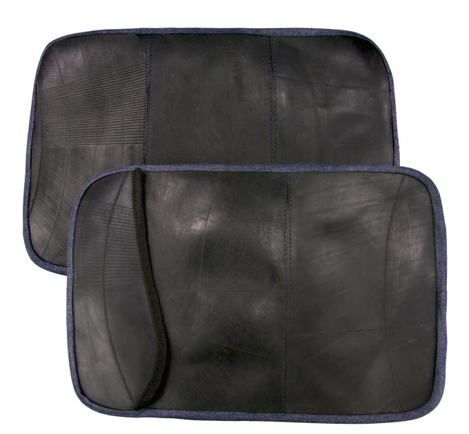 Recycled rubber laptop sleeve