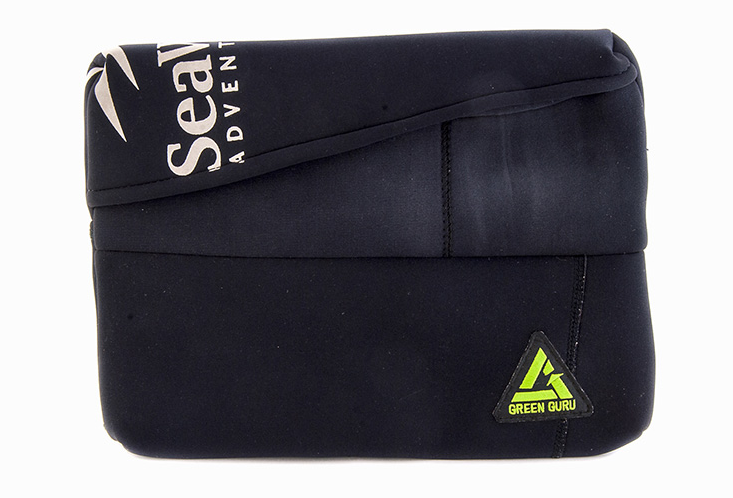 Laptop case made from recycled wetsuit