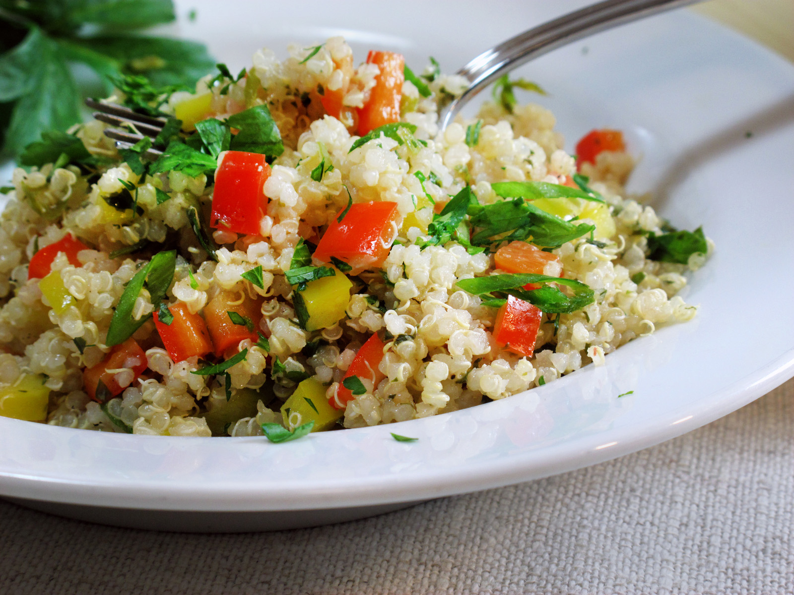 Organic summer quinoa salad recipe