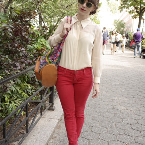 Green Street Style: Braid and Blouse