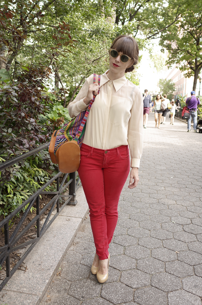 Eco-friendly blouse and sunglasses