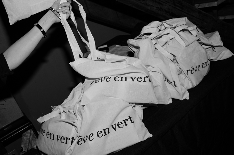 Gift bags were provided by rêve en vert