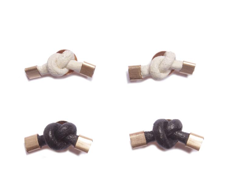 These knot earrings from MPR Jewelry, handmade in Brooklyn