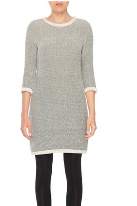 Amourt Vert Emma Herringbone Sweater Dress, $149