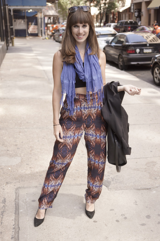 Pants by sustainable designer H Fredriksson