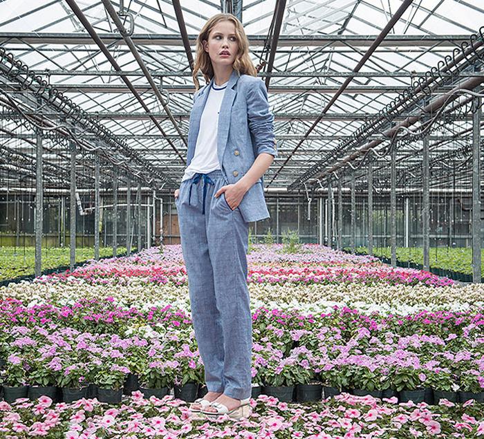 This pajama suit from sustainable designer Svilu
