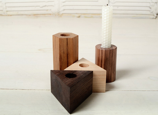 Candlestick holders wood