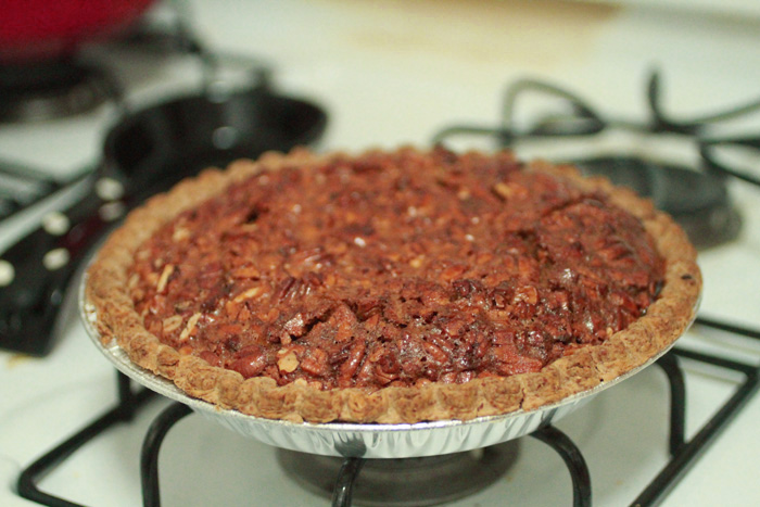 Not-so-Southern Pecan Pie, made with healthy(er) ingredients