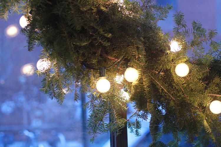 Wreath at Wythe Hotel, Williamsburg, Brooklyn
