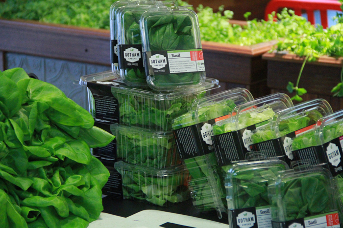 Fresh produce from Whole Foods' rooftop garden