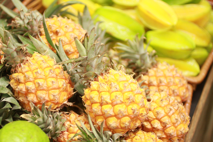 Mini pineapples and other exotic produce